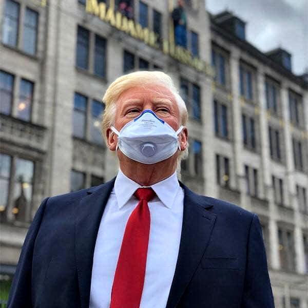 Photo of هل نرى أخيراً ترامب بالكمامة؟